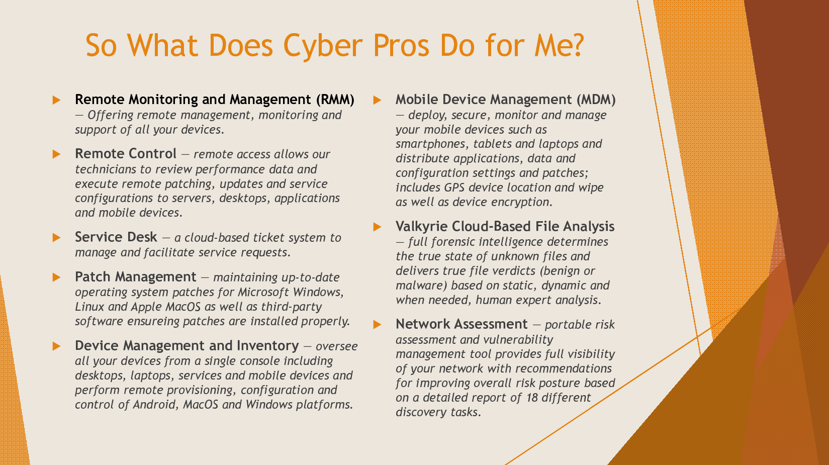 Features – Cyber Pros Consulting